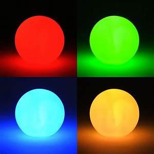 Led Tischleuchte Batterie : led kugel lampe leuchtkugel mit farbwechsel licht stimmungskugel inkl batterien ebay ~ Markanthonyermac.com Haus und Dekorationen