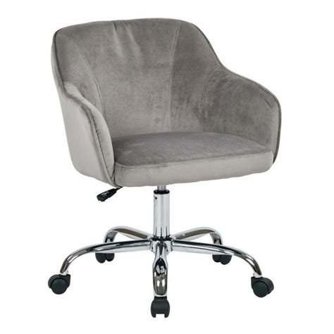 velvet fabric office chair in charcoal brl26 c11