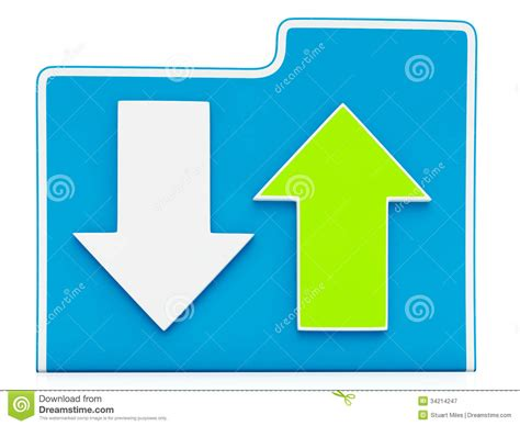 Downloading And Uploading Files Icon Stock Illustration