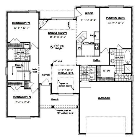 split ranch floor plans open floor plan ranch ranch split bedroom floor plans with