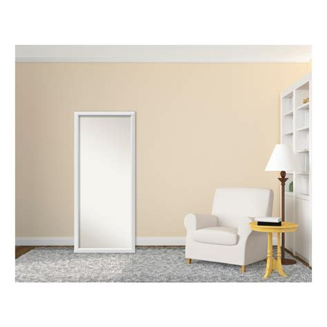 floor mirror home depot amanti art blanco white wood 27 in w x 63 in h contemporary floor leaner mirror dsw3315674
