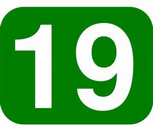 Green Rounded Rectangle With Number 19 clip art Free ...