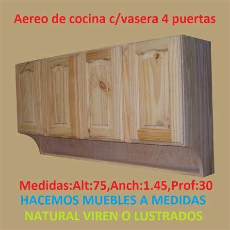 mueble aereo de cocina cvasera  puertas de madera maciza