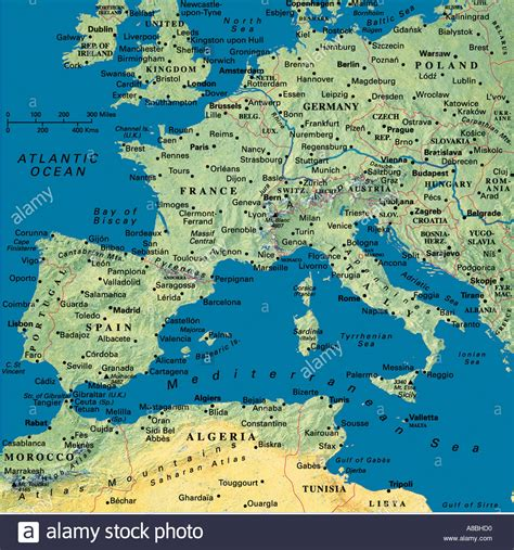 Carte Sud Espagne Portugal by Map Maps Europe Algeria Tunesia Africa Spain