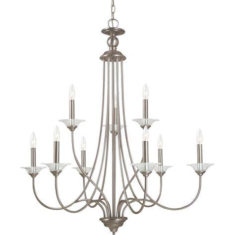 antique nickel chandelier sea gull lighting lemont 9 light antique brushed nickel