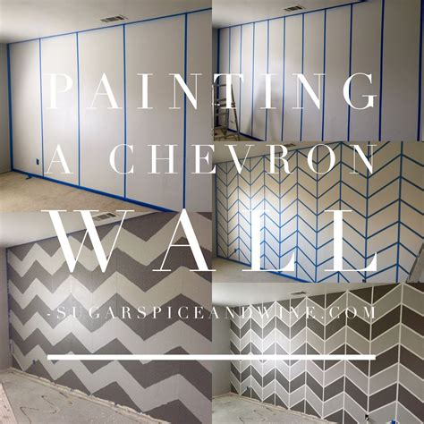 Bedroom Paint Ideas Chevron by Painting A Chevron Wall Home Wall Bedroom