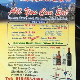 59730 Fuji Buffet Coupon Glendale by Prices As Of January 2017 Yelp