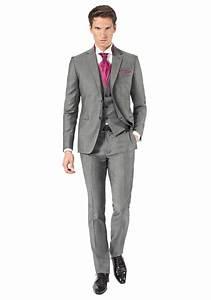 Costume Mariage Homme Gris : costume 3 pi ces gris moyen jean de sey costumes de mariage pour homme et accessoires ~ Mglfilm.com Idées de Décoration