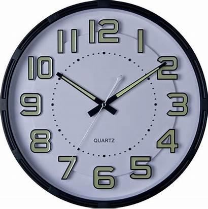Luminous Clock Analog Numbers Hands Night Glowing