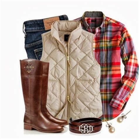 Plaid And Preppy Casual Fall Outfits Fall Outfits Cute