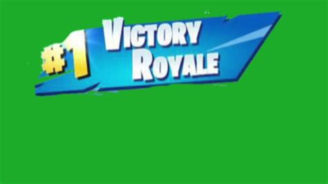 - fortnite victory royale green screen download