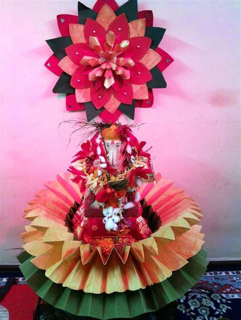 ganapati decoration images  pinterest ganesh