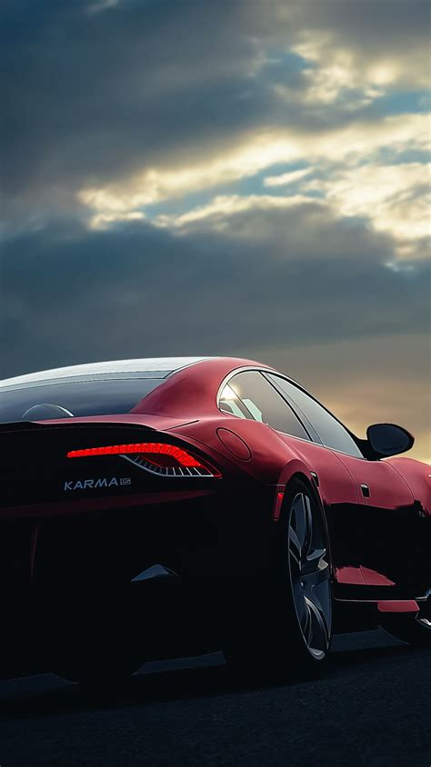 Hd Car Wallpapers For Iphone by Fisker Karma Car Sunset Sky Iphone 6 Wallpaper
