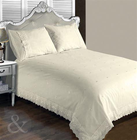 Vintage Lace Luxury Duvet Cover  Cream Bedding Cotton