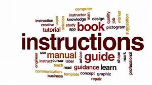 Instruction Manual Animated Word Cloud  Text Design