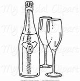 Bottle Coloring Pages Wine Beer Champagne Line Clipart Empty Drawing Glasses Jar Flute Printable Getcolorings Getdrawings Liquor Print sketch template