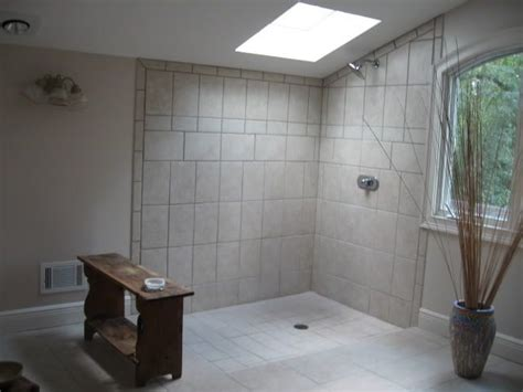 open shower bathroom design step down open shower baths pinterest
