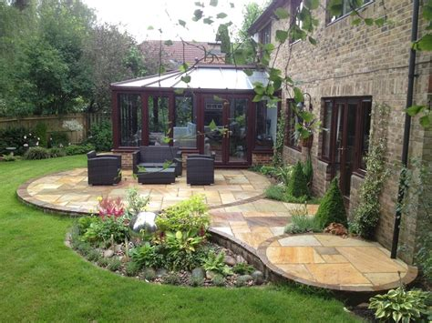 circular indian patio design incorporating water feature landscape garden designers