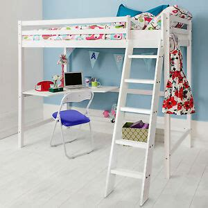 Ebay Bunk Bed With Desk by Cabin Bed High Sleeper With Desk In White Bunk Bed