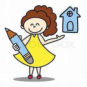 Zuhause Im Glück Wiki : hand gezeichnet zeichentrickfigur gl ck vektorgrafik colourbox ~ Yasmunasinghe.com Haus und Dekorationen