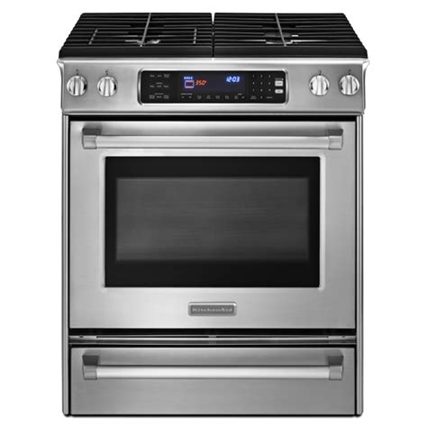 Kitchen Aid Gas Range by 30 Kitchenaid Dual Fuel Slide In Range Stainless