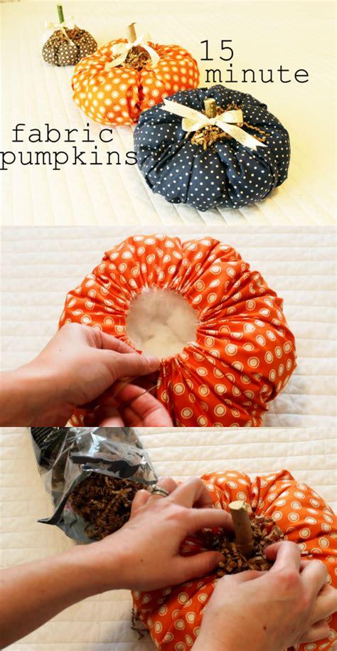 fabric pumpkin diy fall craft  minute fabric pumpkin