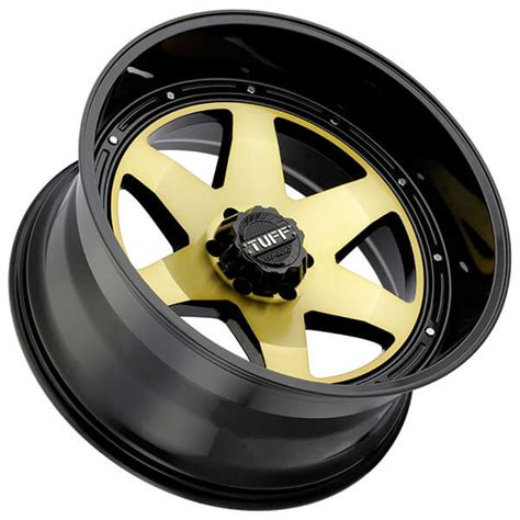 tuff wheels ta gold  gloss black lip  road