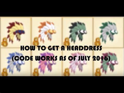 animal jam headdress code works   july  youtube