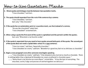 quotation marks   sentence  quotes