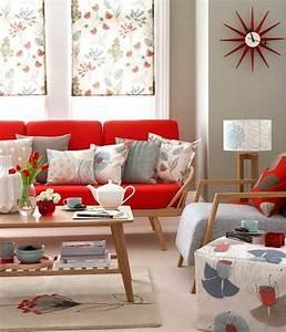 14 Salas Decoradas con Sofás color Rojo