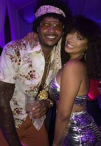 Carmelo and LaLa Anthony at Beyoncé's Soul Train Themed ...
