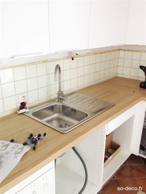 poser un plan de travail de cuisine montage plan de travail cuisine etape 25 pose du0027un