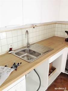 montage plan de travail cuisine nos trucs et astuces du With montage plan de travail cuisine