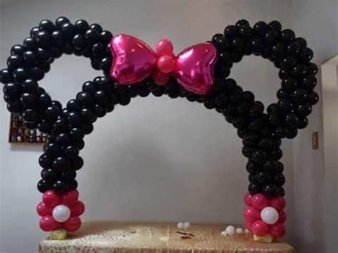 minnie mouse table balloon arch diy beautiful balloon