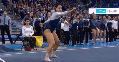 hip hop gymnastics floor routine gymnast pulls tumbling routine surprises