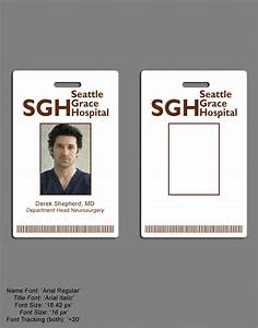 seattle grace id badge by silentarmageddon on deviantart With hospital id badge template