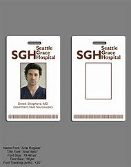 Hospital ID Badge Template