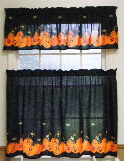 piece halloween pumpkin valance wtiers border fabric
