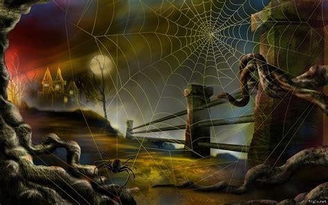 Toile Araignée Fond D'écran Spéciale Halloween Fond D
