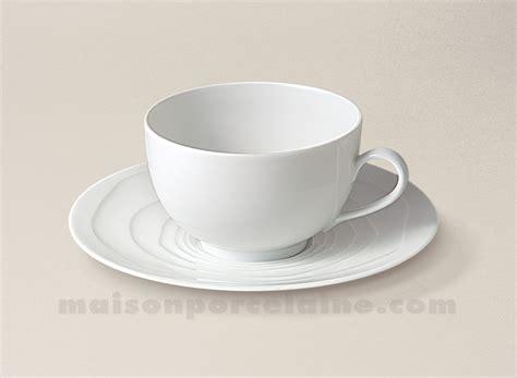 la maison de la porcelaine tasse the soucoupe limoges porcelaine blanche onde gravee 24cl maison de la porcelaine
