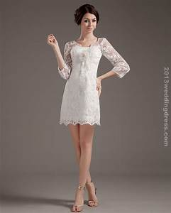 short beach wedding dresses with sleeves With short wedding dresses