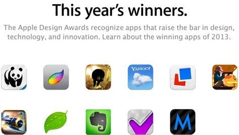 apple announces  design awards winning apps include