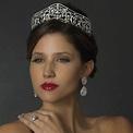 Eleanor of Provence Tiara, antique-look silver bridal ...
