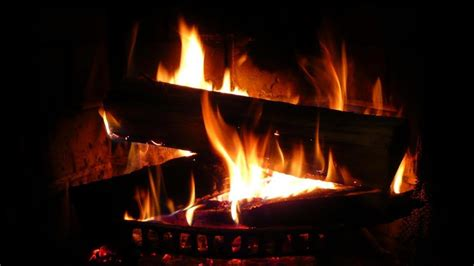 beautiful fireplace with crackling sounds