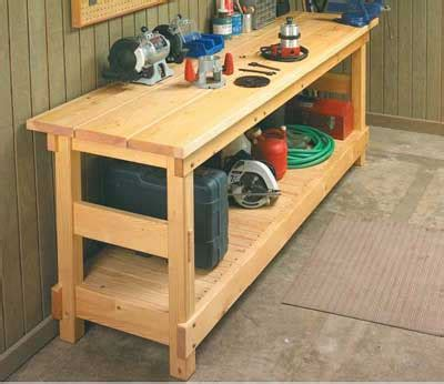 wood wooden workbench plans  plans