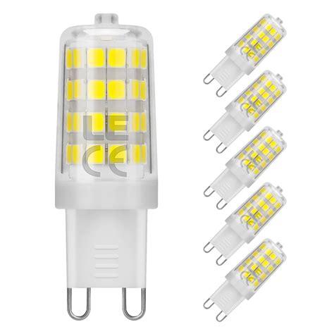 pack of 5 units g9 led light bulb daylight white 5000k