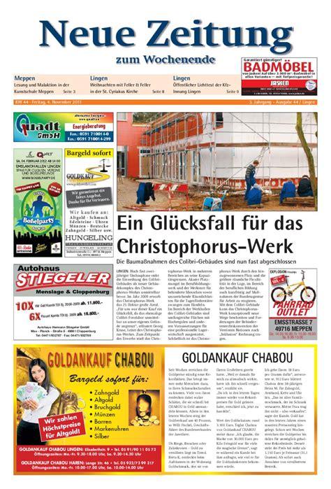 Fliesen Jasken by Neue Zeitung Ausgabe Lingen Kw 44 By Gerhard Verlag Gmbh