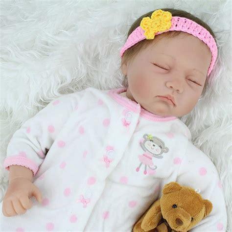 Npk Newborn Babies Doll Lifelike Sleeping Silicone Reborn