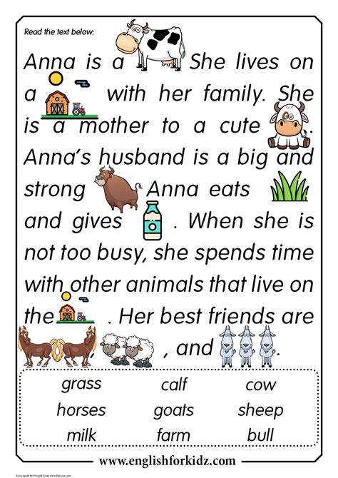 animal comprehension worksheets printable worksheets