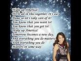 Miley Cyrus Wake up America With Lyrics - YouTube